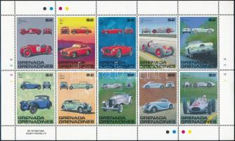 1988 Autó kisív sor, Car minisheet set Mi 1071-1090