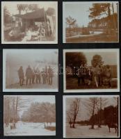 1908-1915 Vegyes, nagyrészt I. világháborús katonai fotók, 9 db, hátuljukon feliratozva, különböző méretben