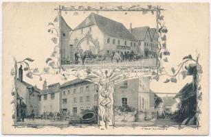 Baiersdorf, Schübelsche Brauerei / brewery and beer hall. Art Nouveau (EK)