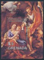 1984 Correggio festmény blokk, Correggio painting block Mi 129