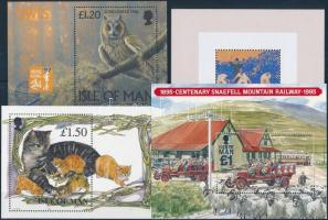 39 different stamps + 7 blocks, 39 klf bélyeg és 7 klf blokk az 1990-es évekből, sok jó motívummal 3 stecklapon