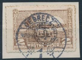 Debrecen II. 1920 2K fordított felülnyomással, Bodor vizsgálójellel (35.000)