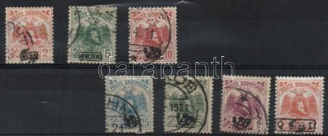 1922 Forgalmi, Skanderbeg és kétfejű sas / definitives Mi 76II+77III+78I+79I+80I+81I+82