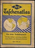 JRO Taschenatlas. Szerk.: Thiele, R. A. München, 1941, JRO-Verlag. Kicsit kopott papírkötésben, jó állapotban.
