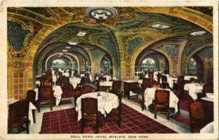 New York, Hotel McAlpin, interior, grill room