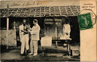 1911 Mumbai, Bombay; Inoculation against Plague, Central Office District No. 5. TCV card (fl)