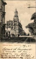 1903 Kolkata, Calcutta; Dalhousie Square, tram (EK)