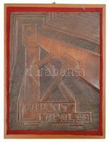 CSK 78. jelzéssel: Bauxit Tapolca réz dombormű fa kereten 29x41 cm