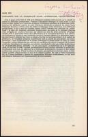 1971-1981 Frank Tibor (1948-) történész 12 db különlenyomata, közte 6 db dedikálttal. Valamint Dán Róbert (1936-1986) irodalomtörténész, hebraista, filológus 2 db különlenyomata, közte 1 db dedikálttal. A dedikált példányok Szepes Erika (1946-) irodalomtörténész, klasszika-filológus, részére dedikáltak.