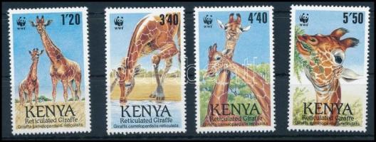 1989 WWF Zsiráfok sor, WWF Giraffes set Mi 481-484