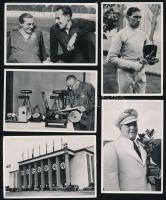 1936 Kb. 70 db olimpiai gyűjtői cigarettakép, rajtuk fekete-fehér fotókkal, köztük 2 db magyar vonatkozású fotóval is (Petneházy Imre vívó.)