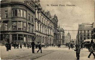 Glasgow, St. Vincent Place, The Smith Premier Typewriter Company, Mather & Crowther advertising agents, shops
