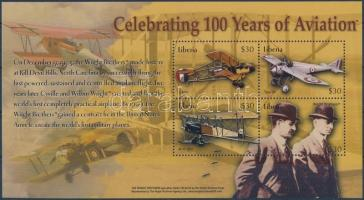 Celebrating 100 years of aviating minisheet, 100 éves a repülés kisív