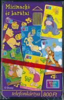 1999 Micimackó és barátai telefonkártya használatlan, bontatlan csomagolásban. Sorszámozott.