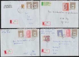 1990-es évek 200 db ajánlott üzleti levél, mind bélyeges