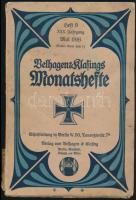 1916 Velhagen & Klafings Monatshefte 1916. május, XXX. évf. 9. sz. Német nyelven. Papírkötésben, szakadt gerinccel.