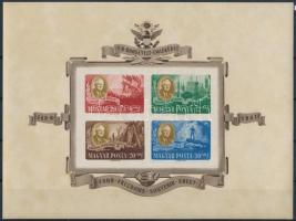 1947 Roosevelt jó minőségű vágott blokk (55.000) (kis gumiránc, sárgás papír / gum crease, yellowish paper)