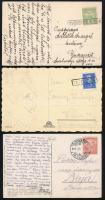 Vasúti, pályaudvari bélyegzések 6 képeslapon