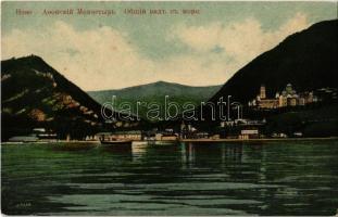 Akhali Atoni, Novy Afon, New Athos (Abkhazia); Novoafonskiy monastir / New Athos Monastery, view from the sea