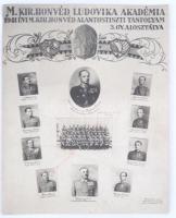 1941 M. Kir. Honvéd Ludovika Akadémia alantostiszti tanfolyamának alosztálya, tablókép, tollas ráírással, sarkán törésnyom, 40×30 cm