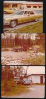 cca 1960-1970 Régi amerikai autók, 21 db színes fotó, egy részük hátulján feliratozva, 9×12,5 cm