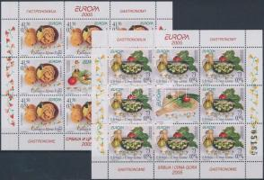 Europa CEPT Gastronomy mini sheet set, Europa CEPT Gasztronómia kisív sor