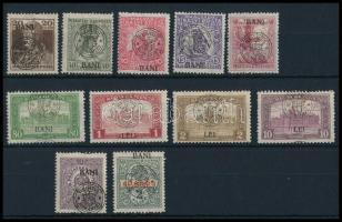1919 46 db bélyeg Bodor vizsgálójellel, közte érdekes felülnyomás eltérések (11.570)