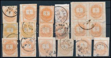 1874-1900 18 db Hírlapbélyeg