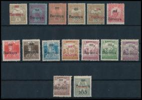 1919 15 db bélyeg antikva számokkal és Bodor vizsgálójellel (32.400)