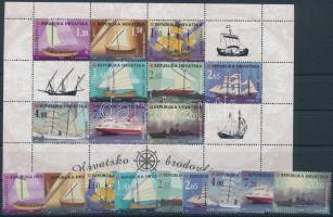 Ships set + mini sheet, Hajók sor + kisív