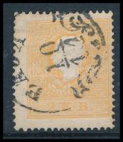 1858 2kr II tipus, világos narancs BAJA (60.000) (javított fogazás) Certificate: Goller