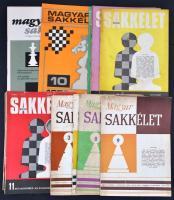 1962-1980 Magyar Sakkélet 14 db szórványszáma.