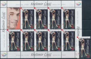 Kresimir Cósic stamp + mini sheet, Kresimir Cósic bélyeg + kisív