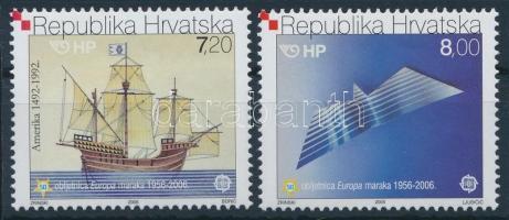 50th Anniversary of CEPT stamps, Ships set, 50 éves a CEPT bélyeg, Hajók sor