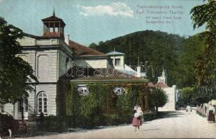 Trencianske Teplice, spa, Wertheim Zsigmond, Trencsénteplic, Első számú tükör fürdő, Wertheim Zsigmond