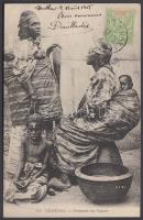 1905 Femmes du Cayor / women from Cayor, Senegalese folklore. TCV card