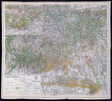 1929 A Mecsek-hegység, Kirándulók Térképe 20/a, kiadja: Magyar Királyi Állami Térképészet, 48×55 cm