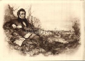 Franz Schubert obituary card
