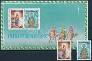 1985 Karácsony sor + blokk, Christmas set + block Mi 719-720 + Mi 30