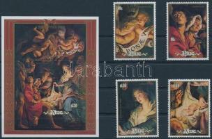 Christmas, Rubens paintings set + block, Karácsony, Rubens festmények sor + blokk