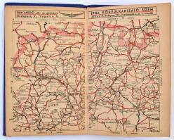 1939 Magyarország új autótérképe. Egészvászon kötésben.