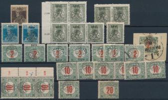 Kolozsvár 1919 206 db bélyeg, közte sok összefüggés, Bodor vizsgálójellel, 6 stecklapon (20.660)