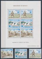 1979 Postatörténeti sor Mi 1375-1377 + blokk Mi 15