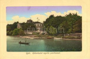 Győr, Rába részlet a regatta pavilonnal