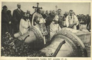 1927 Karád, Harangszentelés november 27-én (Szlezák László harangöntő által készített négy új harang)