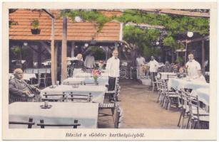 Budapest IX. Papp József Gödör étterme, kerthelyiség. Üllői út 153.