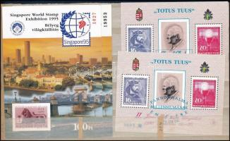 1995/1996 II. János Pál pápa 75 éves 2 db emlékív + Singapore 2 db emlékív (7.800)