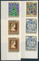 1970 Bélyegnap (43.) ívsarki vágott sor (2 db sor)