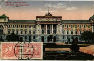 1929 Lviv, Lwów, Lemberg; Gmach Sejmowy / Landtagsgebaude / parliament building. TCV card (tear)