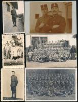 cca 1914-1971 Vegyes katonai fotó tétel, 14 db, 6×8 és 9×14 cm közötti méretekben